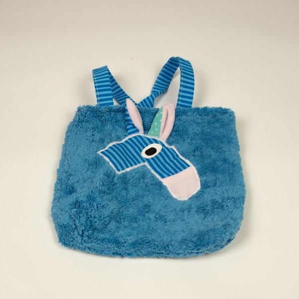 Tasche Baumwolle Blau/Türkis