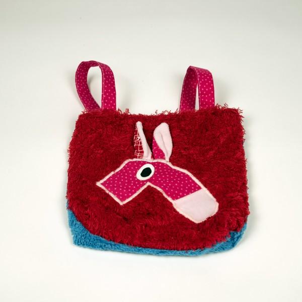 Tasche Baumwolle Rot/Blau