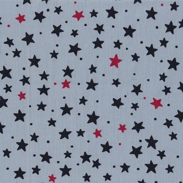 Westfalenstoffe Junge Linie kbA Sterne grau