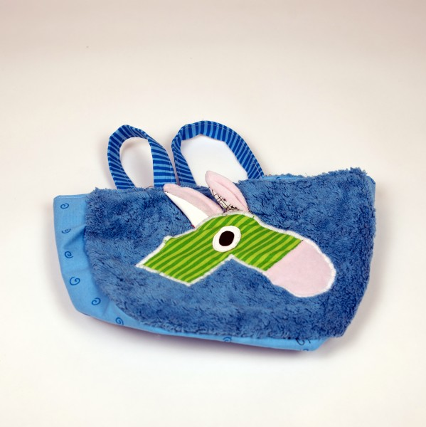Tasche Baumwolle Blau/Grün