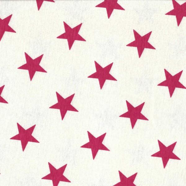 Stoff - Jersey weiß blaue oder rosa Sterne